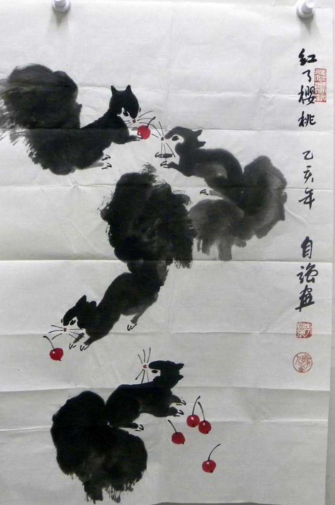 李自强动物字画作品