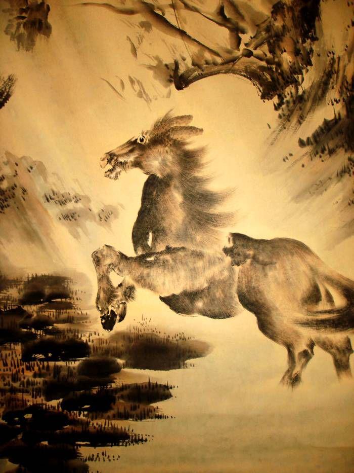 高剑父书画作品字画收藏欣赏动物
